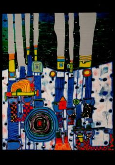 Friedensreich Hundertwasser : Blue Blues