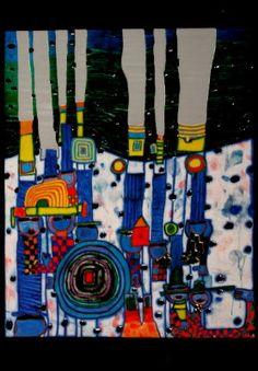 Friedensreich Hundertwasser : Blue Blues