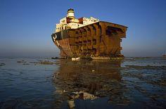 Gadani ship-breaking yard Pakistan is the world's third largest ship breaking yard. The yard consists of 132 ship-breaking plots located across a 10 km long beach.