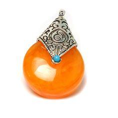 Resin Wax For DIY Necklace Pendants Imitation Honey Water Drop Oriental Nepal india Amulet Tibetan silver