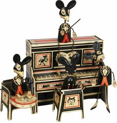 """Marx """"Musical Merry Makers' Band"""" wind up toy, 1929"""