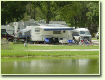 Lakefront RV sites. Pin Oak Creek RV Park 1302 State Highway AT Villa Ridge, MO 63089