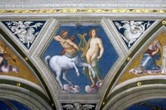 Rom, Via della Lungara, Villa Farnesina, Apollo und der Kentaur von Baldassare Peruzzi (Apollo and the centaur) | da HEN-Magonza