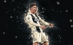 Cristiano Ronaldo wallpaper by ElnazTajaddod - 50 - Free on ZEDGE™ Cr7 Wallpapers, Cristiano Ronaldo Wallpapers, Full Size Photo, Neon Wallpaper, Juventus Fc, Neon Lighting, Soccer, Suit, Football