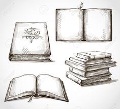 Bücherstapel gezeichnet  Desván de Lecturas | Brainstorm | Pinterest