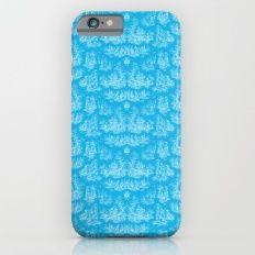 Chevron Toile, Cyan Slim Case iPhone 6s