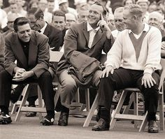 Gary Player, Arnold Palmer and Jack Nicklaus, 1965. Jack Nicklaus defeated Gary Player and Arnold Palmer by nine strokes. Jack shot rounds of 67, 71, 64 and 69.