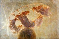Gaetano Previati, La Danza delle Ore (1899). Previati was an Italian Symbolist painter of the Divisionist style
