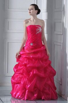 CLICK IMAGE TWICE FOR PRICING AND INFO:) #women #womendresses #eveninggown #cocktaildress #wedding #weddinggown #eveningdresses #prom #debut #partydress #bridesmaid SEE MORE strapless womens dresses at http://www.zbrands.com/Strapless-Womens-Dresses-C60.aspx  Brilliant Ball Gown Strapless Floor-length Organza Prom Dress SBG0244-TB