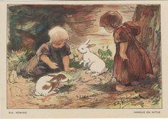 """NBvK 1930 kaart 4 """"Hansje en Witje"""""""