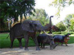 Parc de l'Arquebuse Circuit, Elephant, Photography, Travel, Animals, Owls, City, Children, Projects