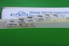 Organize your car glove box.  from Aby Garvey's 15 minutes of organizing your glove box.  Use an accordian file!
