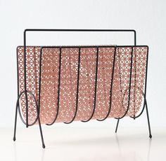 Retro Magazine Rack Pink and Black by bellalulu on Etsy