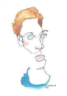 blind contour drawing- portrait