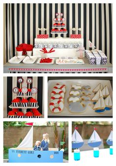Nautical First Birthday Party....totally making these cookies..so cute