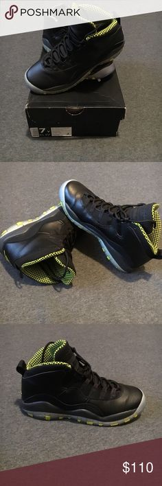 Air Jordan 10 Retro Black and green Jordan 10 Jordan Shoes Sneakers