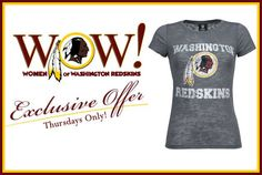 Ladies! Gear up for summer and the annual #Redskins Draft Day Party with an exclusive deal on THIS tee for TODAY (3/29) only! http://redsk.in/Hnqy4n