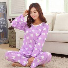 New Autumn  Winter Pyjamas Women Pajama Sets Cartoon nightgown for women  female girl O- 62c4b85d5d