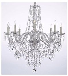 Crystal Chandeliers throughout home