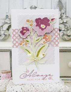 Always Here For You Card by Melissa Phillips for Papertrey Ink (March 2015)