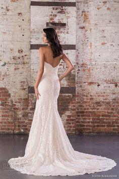 justin alexander spring 2017 bridal strapless sweetheart neckline full embellishment bodice classic elegant fit and flare wedding dress chapel train (9857) bv