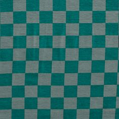 "Teal Green Gray Check Modal Cotton Spandex Knit Fabric - A designer overstock score!  Lovely modal cotton jersey with spandex knit in a teal green and gray checkerboard pattern.  Fabric is mid weight with an excellent 4 way  stretch and recovery, nice soft hand.  Squares measure 1"" wide.  ::  $6.50"