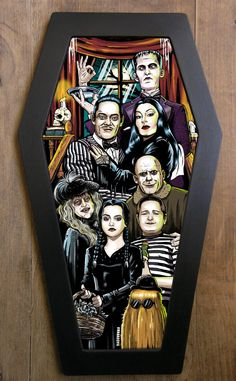 The Addams Family coffin framed print. by bwanadevilart on Etsy