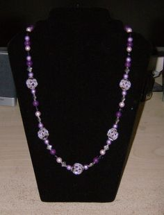 My beaded bead necklace in purples, and it is love to wear.