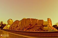 Reclining Buddha at Bago, Myanmar.