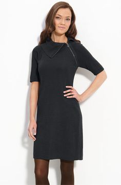 Calvin Klein Asymmetric Neck Sweater Dress available at #Nordstrom