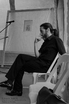 5a Feria del Libro de Río Ceballos, presentación del libro Historias que nos Siembran, de Lilah Ríos.  Juan Matías que se hace el reo... pero los muchachos de antes no usaban gomina...