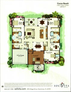 The Majestic Palm Collection Coco Beach Floor Plan in Solivita, Kissimmee FL