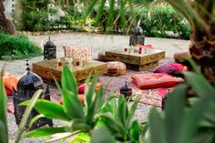 Moroccan chill out area for wedding in Spain