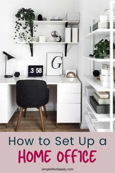 Setting up a home office can be challenging so here's a simple guide to make it easier!