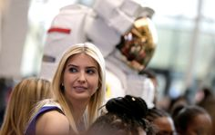 Ivanka Trump stands with students at an astronaut exhibit during visit to the Smithsonian?s National Air and Space Museum in Washington, U.S., March 28, 2017. REUTERS/Joshua Roberts via @AOL_Lifestyle Read more: https://www.aol.com/article/news/2017/03/28/ivanka-trump-secretary-education-betsy-devos-womens-history-month-stem/22016005/?a_dgi=aolshare_pinterest#fullscreen