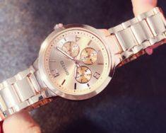 Luxusné dámske hodinky v dvoch rôznych farebných prevedeniach. Gold Watch, Rose Gold, Watches, Accessories, Tag Watches, Clocks, Ornament