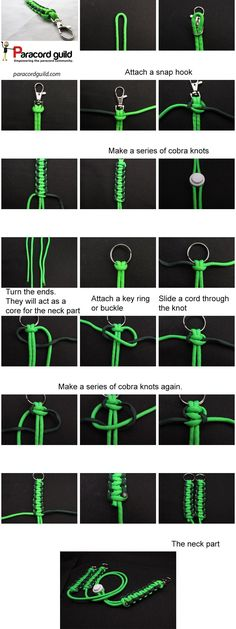 How to make a paracord neck lanyard. A tutorial.