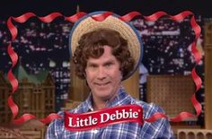 Last night, Will Ferrell stopped by The Tonight Show to chat about his tasteful new gig as the spokesperson for Little Debbie snacks. | Will Ferrell Is The New Face Of Little Debbie Snack Cakes