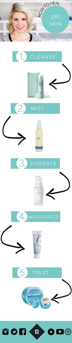 Struggling with flakiness, rough patches, and all-around redness? Birchbox staffer Lorelei, a longtime sufferer of dry skin, is here to help. In this video, she shares her general dry skincare guidelines (avoid harsh ingredients, take shorter showers) and shows you how to create a basic skincare routine, starting with a moisturizing cleanser, followed by a gentle toner, hydrating serum, creamy moisturizer, and restorative mud mask.