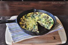 Welcome to Jinkzz's Kitchen: Portabella, Baby Spinach, and Feta Cheese Frittata