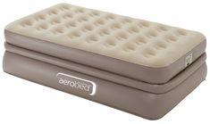 Queen Size Air Mattress Bed Inflatable Pillow Rest Guest Aerobed Built In Pump