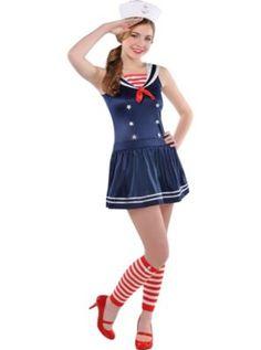 Teen Girls Sweetie Sailor Costume