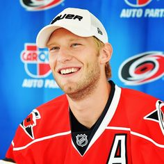Jordan Staal shares a laugh with the media on Friday.