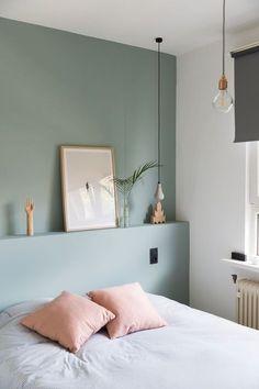 Bois, blanc, fleurs et pastel Le printemps en décoration chambre vert pâle et rose La Chouette Echoppe
