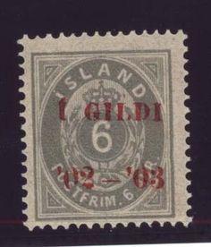 Исландия , надпечатка 1902г....$1 850