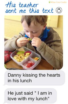 If ever you doubted that your kids appreciate what you pack in their lunchbox ...