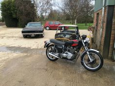 The charger with my 1976 triumph trident 1968 Dodge Charger, Trident, Mopar, Motorcycle, Vehicles, Motorcycles, Car, Motorbikes, Choppers