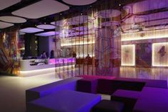High-tech design, outdoor rooftop terrace and fine dining at the *** YOTEL - Times Square in New York. Nyc Hotels, New York Hotels, Best Hotels, Budget Hotels, Hotel World, Unique Hotels, Conceptual Design, Great Hotel, Rooftop Terrace