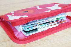 最強カード収納ポーチ、ジャバラポーチの作り方(図解入り) | hapimade手芸教室|ハンドメイド・手作りのお手伝い Diy And Crafts, Zip Around Wallet, Sewing Projects, Pouch, Handmade, Bags, Handbags, Hand Made, Sachets