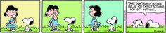 Snoopy watches Lucy eat an ice cream cone.<BR&g....@Snoopy